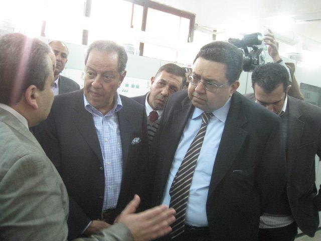 زياره وزير  الصناعه منير فخري في 2014